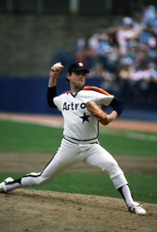 When Nolan Ryan signed with the Houston Astros as a free agent in 1979, he had already led the American League in strikeouts for seven seasons (1972-1974, 1976-1979). (Rich Pilling / National Baseball Hall of Fame and Museum)