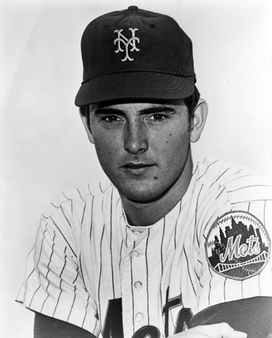 Nolan Ryan pitched the first five seasons of his big league career with the Mets, helping New York win the World Series in 1969. (National Baseball Hall of Fame and Museum)