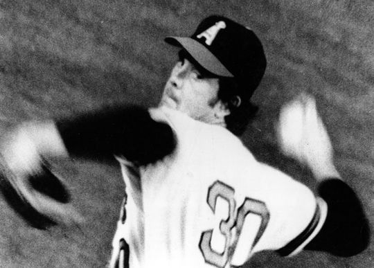Nolan Ryan finished the 1974 season with 367 strikeouts, just 16 shy of the Major League record he set the year before. He retired with 5,714 strikeouts in his career. (National Baseball Hall of Fame and Museum)