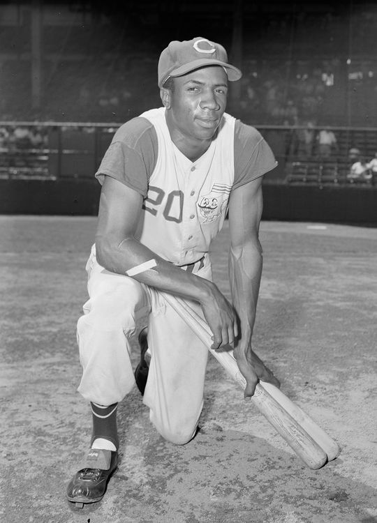 In 10 seasons with the Cincinnati Reds from 1956-65, Frank Robinson earned eight All-Star Game selections and won the 1961 National League Most Valuable Player Award. (Osvaldo Salas/National Baseball Hall of Fame and Museum)