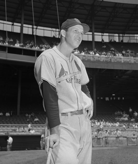 Stan Musial finished second to Hank Aaron in the 1957 NL Most Valuable Player Award vote. It marked the fourth time in his career that Musial was the runner-up for NL MVP. (Osvaldo Salas/National Baseball Hall of Fame and Museum)