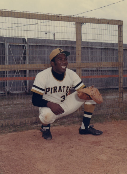 Manny Sanguillen, served as a catcher for the Pittsburgh Pirates for 12 years. BL-602.2014 (J. D. McCarthy, National Baseball Hall of Fame Library)