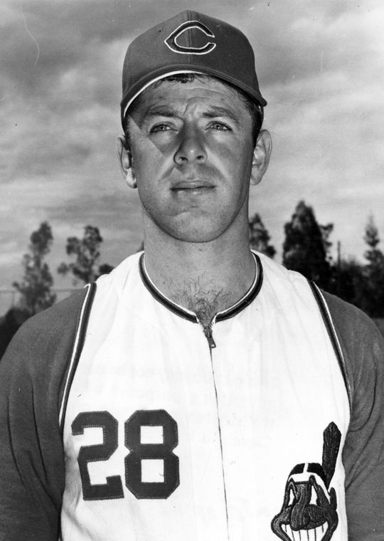 Headshot of Richie Scheinblum of the Cleveland Indians, circa 1967. BL-1623.73 (National Baseball Hall of Fame Library)