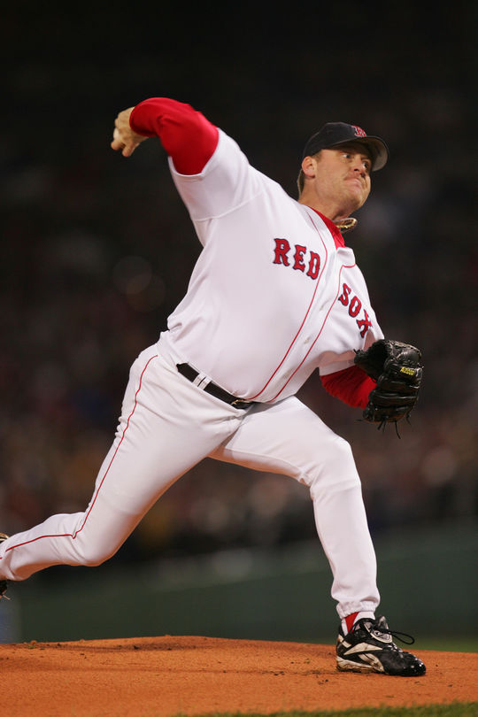 Only two pitchers have recorded more seasons with 300 strikeouts than Curt Schilling. (Brad Mangin/National Baseball Hall of Fame and Museum)