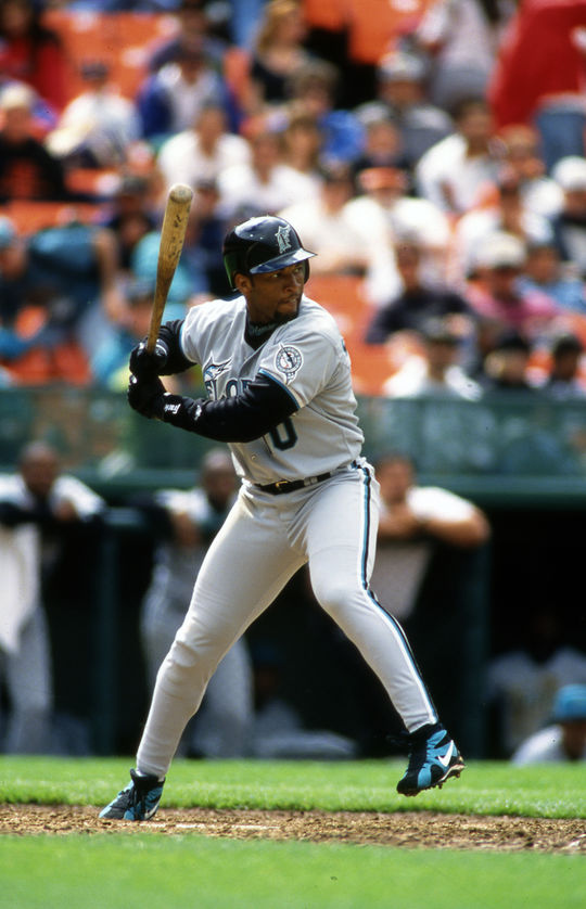 Gary Sheffield recorded at least 100 RBI in eight seasons and scored 100-or-more runs in seven seasons. (Brad Mangin/National Baseball Hall of Fame and Museum)