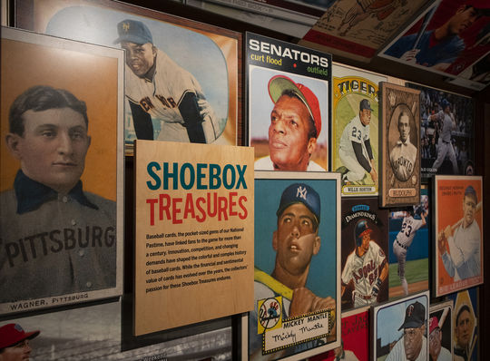 The Hall of Fame's <em>Shoebox Treasures</em> exhibit tells the story of the history of baseball cards in a 700-square foot exhibit on the Museum's third floor. (Milo Stewart Jr./National Baseball Hall of Fame and Museum)
