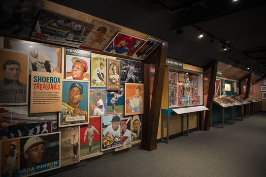 The Museum's <em>Shoebox Treasures</em> exhibit opened on May 25, 2019. (Milo Stewart Jr./National Baseball Hall of Fame and Museum)