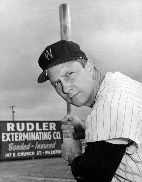 After five great seasons with the Senators Roy Sievers signed a record-breaking contract with Washington in 1958, but was traded to the White Sox the following year. (National Baseball Hall of Fame and Museum)