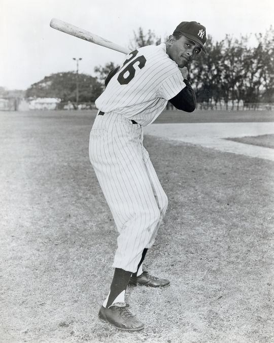 The White Sox acquired Ted Kluszewski in August of 1959, in exchange for outfielder Harry Simpson (pictured above) and a minor leaguer. (National Baseball Hall of Fame and Museum)