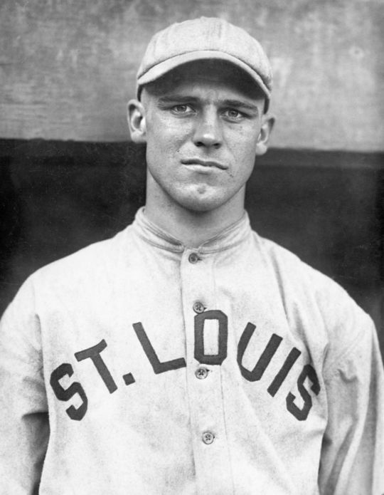 Posed portrait of Hall of Famer, George Harold 'Gorgeous George' Sisler of the St. Louis Browns, circa 1915. BL-221.69