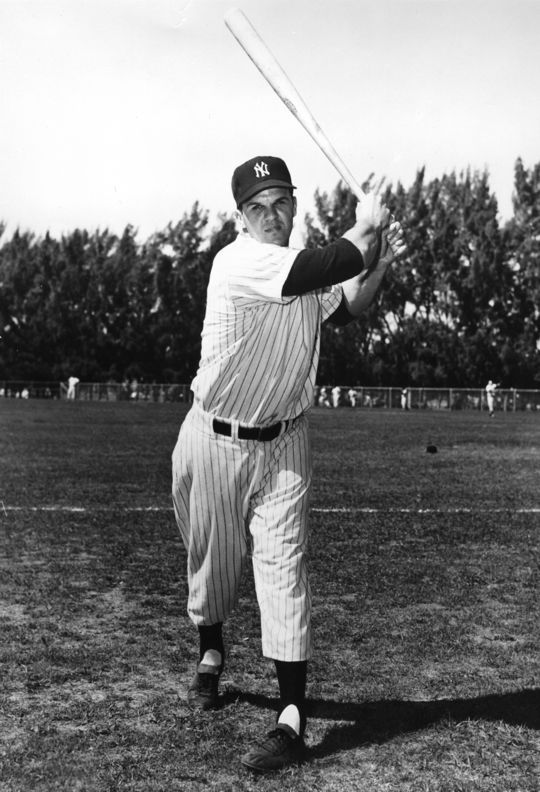 Moose Skowron (pictured above) was the Yankees' primary first baseman during Marv Throneberry's three seasons with New York. (National Baseball Hall of Fame and Museum)