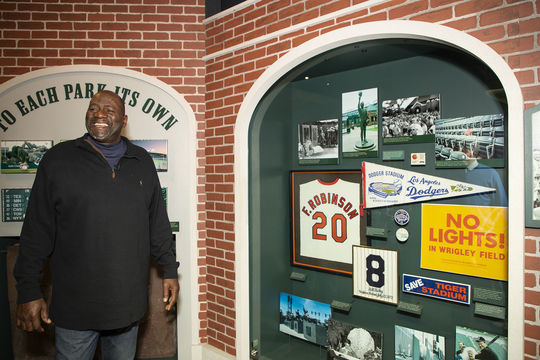 Lee Smith toured the National Baseball Hall of Fame and Museum for his Orientation Visit as a newly-elected Hall of Famer on Feb. 5. (Milo Stewart Jr./National Baseball Hall of Fame and Museum)