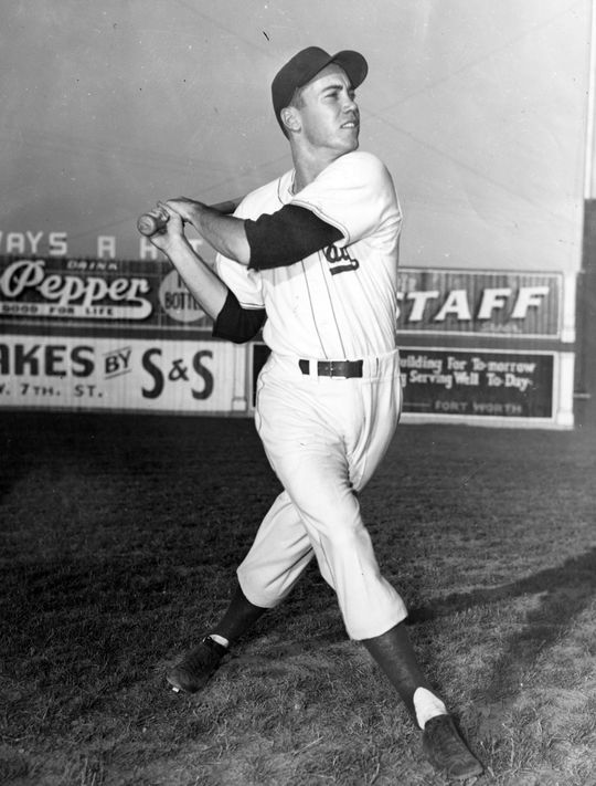 Duke Snider played for the Ft. Worth Cats in 1946, after returning from military service. BL-570.80