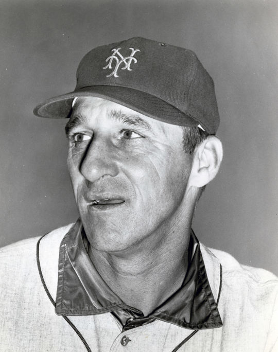 Warren Spahn pitched for half a season with the Mets in 1965 after he was sold to New York by the Milwaukee Braves in Nov. 1964. BL-5687-71a (National Baseball Hall of Fame Library)