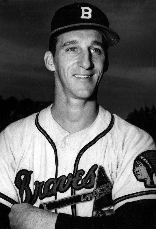 Warren Spahn played for the Braves before and after their franchise move from Boston to Milwaukee in 1953. (National Baseball Hall of Fame and Museum)