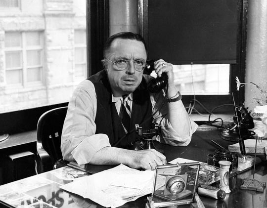 Inaugural J.G. Taylor Spink Award winner, J.G. Taylor Spink (National Baseball Hall of Fame Library)