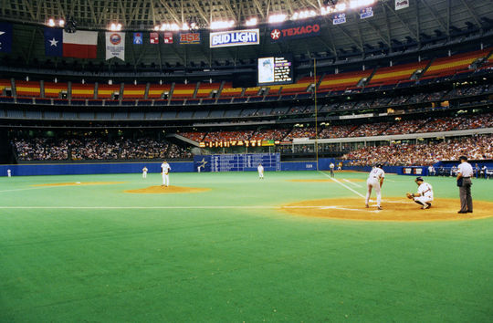 Nolan Ryan threw his fifth no-hitter against the Los Angeles Dodgers on Sept. 26, 1981 in the Astrodome. (Bob Busser / National Baseball Hall of Fame)