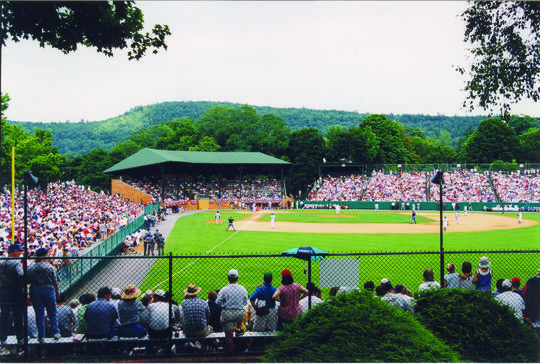 A game being played at Doubleday Field. (National Baseball Hall of Fame Library)