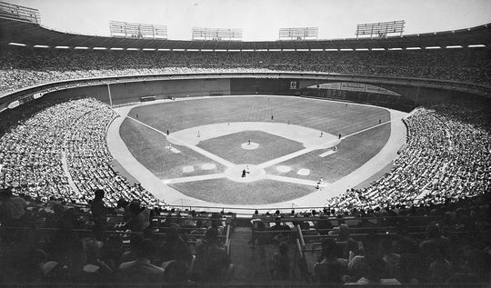 29,196 fans filled RFK Stadium in Washington, D.C. for the Cracker Jack Old Timers game on July 19, 1982. (National Baseball Hall of Fame and Museum)