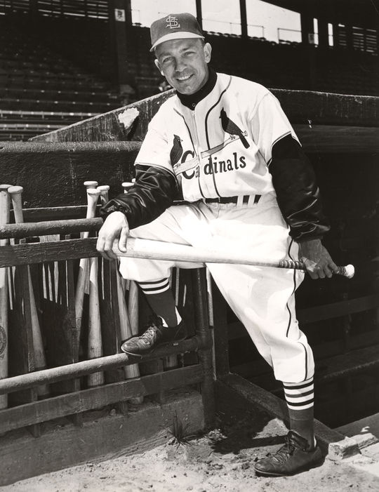 Eddie Stanky, pictured above, played for the St. Louis Cardinals for two seasons of his 11-year-long career. He became a big league manager after retiring, and was Bob Locker's skipper on the Chicago White Sox from 1966-68. (National Baseball Hall of Fame and Museum)