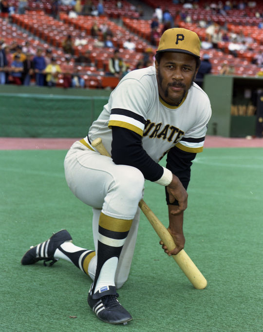 Gen Clines started in center field on September 1, 1971, alongside Willie Stargell, pictured above, when the Pirates made history for assembling the first all-black lineup in the major leagues. (Doug McWilliams/National Baseball Hall of Fame and Museum)