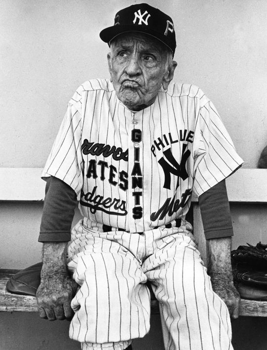 Casey Stengel compiled 1,905 wins, 10 pennants and seven World Series titles over his 25-year managerial career. (Kaufman / National Baseball Hall of Fame and Museum)