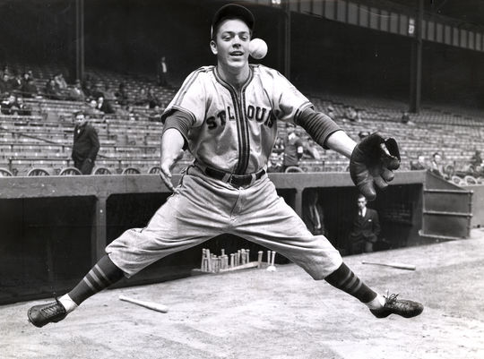 Shortstops Vern Stephens drove in an American League-best 109 runs in 1944 to lead the St. Louis Browns to their first-and-only pennant. (National Baseball Hall of Fame and Museum)