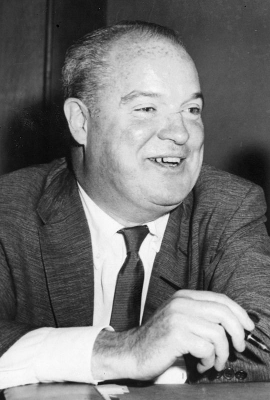 Prior to the 1968 season, Herman Franks met with Giants owner Horace Stoneham (pictured above), telling him that if the team did not win the pennant, he would quit at season's end. (National Baseball Hall of Fame and Museum)