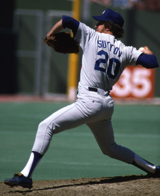 Don Sutton pitched in the big leagues for 23 seasons, including 16 with the Dodgers where he won 233 of his 324 big league games. (National Baseball Hall of Fame and Museum)
