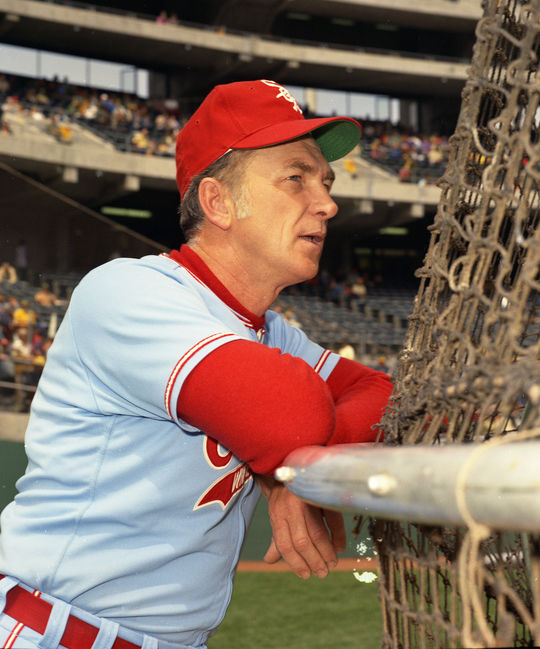 """White Sox manager Chuck Tanner (pictured above) referred to Rich McKinney as a """"natural born hitter."""" (Doug McWilliams/National Baseball Hall of Fame and Museum)"""