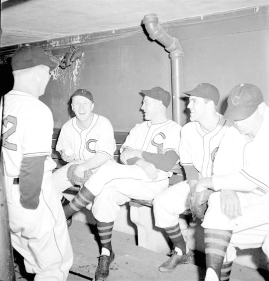 The 1941 Cleveland Indians featured in <cite>Look</cite> Magazine. BL-240.54.117 (Look Magazine Collection, National Baseball Hall of Fame Library)