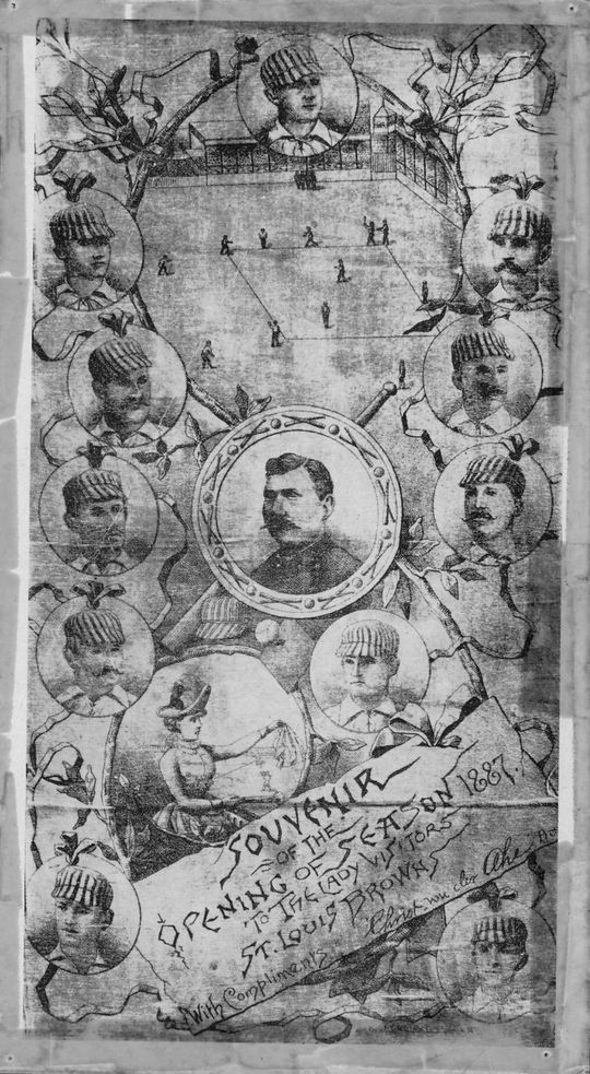 A souvenir program from the St. Louis Browns' 1887 Opening Day. (National Baseball Hall of Fame Library)
