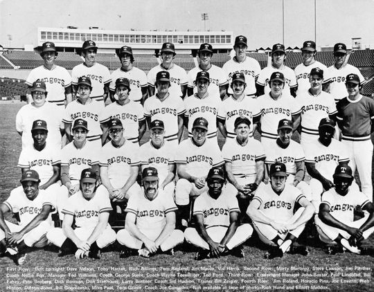 The 1972 Texas Rangers. Don Stanhouse is in the third row, fourth from the right. BL-2871-73 (National Baseball Hall of Fame Library)