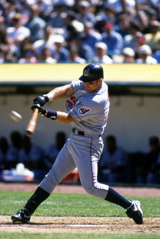 Sheldon Ocker's 33-year tenure at the <em>Akron (Ohio) Beacon Journal</em> overlapped with Jim Thome's career with the team. Thome (pictured above) is currently on the 2018 BBWAA ballot. (Brad Mangin/National Baseball Hall of Fame and Museum)