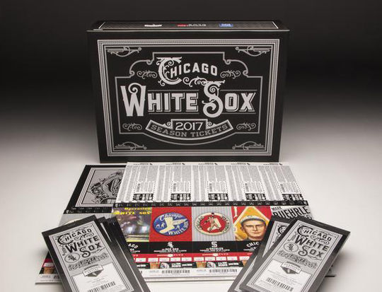 This set of 2017 White Sox season tickets, which feature branding from more than 100 years of team history, is a part of the collection at the National Baseball Hall of Fame and Museum. (Milo Stewart Jr./National Baseball Hall of Fame and Museum)