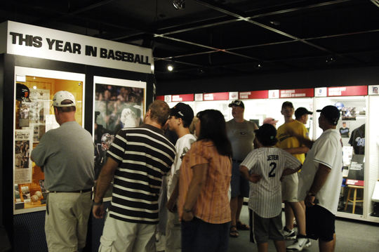 Fans line up to see the latest artifacts donated to the Hall of Fame (National Baseball Hall of Fame)