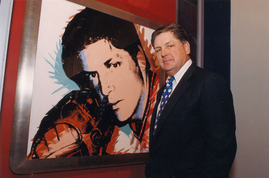 "Tom Seaver photographed with ""Tom Seaver."" BL-84.92 (National Baseball Hall of Fame Library)"