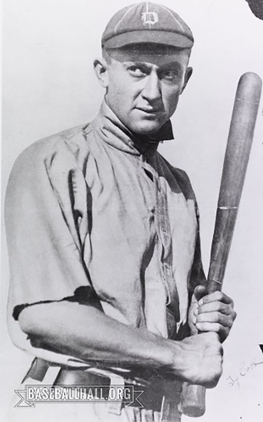 Ty Cobb was widely regarded as one of the finest hitters of his generation, and in baseball history. (National Baseball Hall of Fame and Museum)