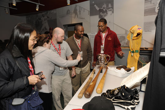 Learn how these fans got a special look at historic baseball artifacts.