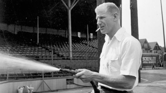 Bill Veeck oversaw all facets of the teams he owned in both the minors and the majors, working to ensure fans were entertained at the ballpark. He was elected to the Hall of Fame in 1991. (National Baseball Hall of Fame and Museum)