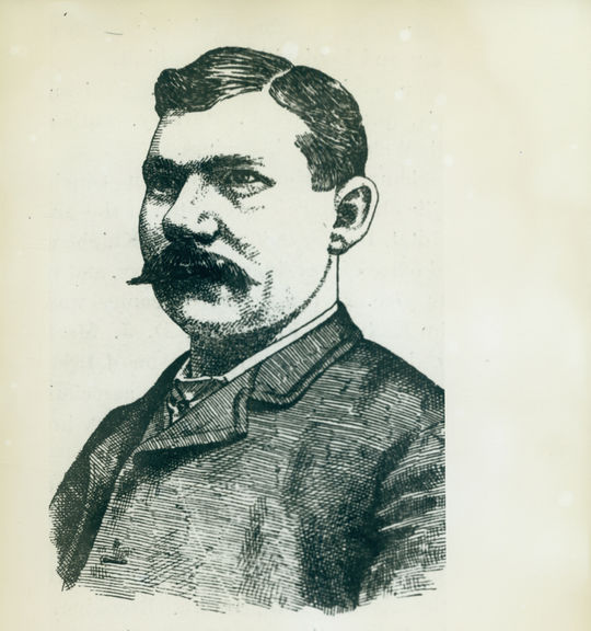 An illustration of Chris Von Der Ahe, owner of the St. Louis Brown. BL-2407.74 (National Baseball Hall of Fame Library)