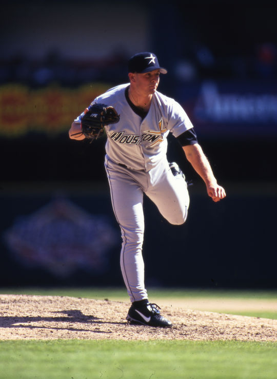 Billy Wagner on the mound for the Houston Astros in 1997. (Michael Ponzini / National Baseball Hall of Fame Library)