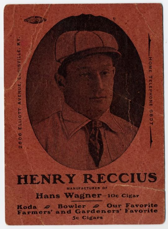 This early 20th-century card of Honus Wagner is one of just two copies known to exist. (National Baseball Hall of Fame and Museum)