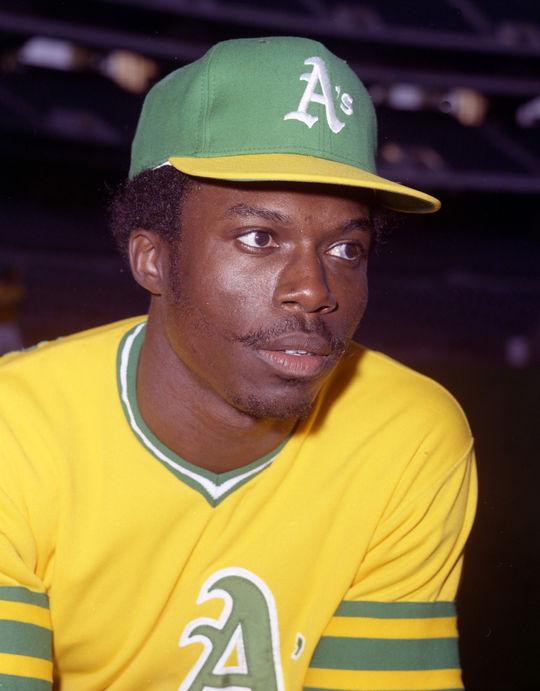 """Hurricane"" Herb Washington of the Oakland A's. OA74-120 (Doug McWilliams / National Baseball Hall of Fame Library)"