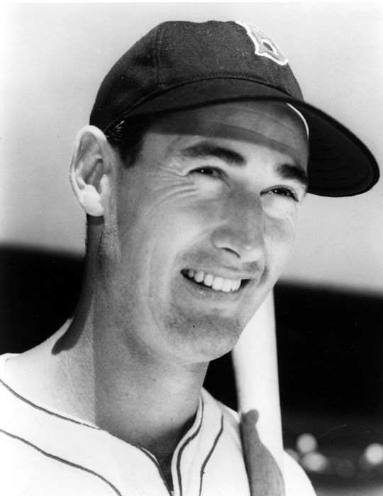 Ted Williams hit .406 in 1941, going 6-for-8 on the season's last day to raise his average from .3995. (National Baseball Hall of Fame and Museum)