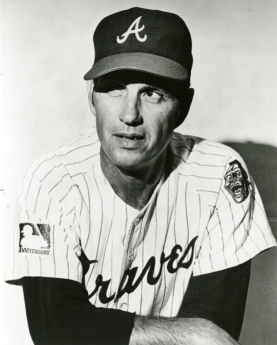 Hoyt Wilhelm would return to the Atlanta Braves in 1971 after briefly playing for the Cubs at the end of the 1970 season. (National Baseball Hall of Fame)