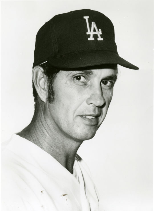 Hoyt Wilhelm's final stop in his 21-year-career was Los Angeles. The Dodgers signed him as a free-agent on July 10, 1971. (National Baseball Hall of Fame and Museum)