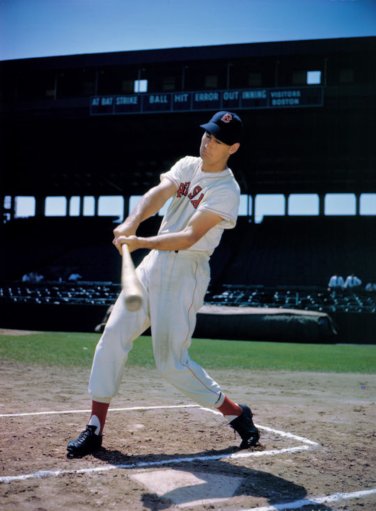 In 1966, Ted Williams earned enshrinement in Cooperstown as just the second player ever to win two batting Triple Crowns, doing so in 1942 and 1947. (Bauman / National Baseball Hall of Fame and Museum)