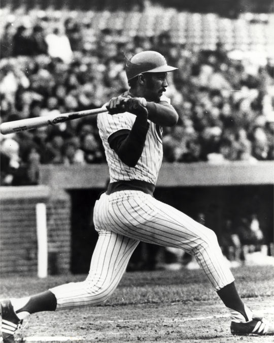 Billy Williams earned the reputation as one of baseball's best hitters of the 1960s and 70s, with a left-handed swing that produced both power and .300 batting averages. Williams finished his career with 2,711 hits and 426 home runs. (National Baseball Hall of Fame and Museum)
