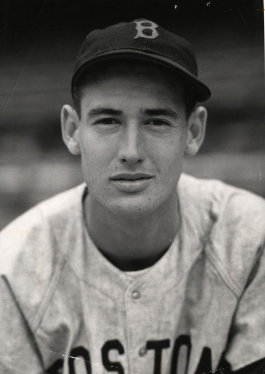 "Ted Williams, like Gary Carter, also picked up the nickname ""Kid"" in Spring Training. After showing up late, Red Sox equipment manager Johnny Orlando proclaimed ""the kid has arrived."" The nickname would stick with him throughout his career. (National Baseball Hall of Fame)"